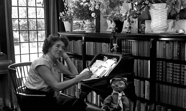 Enid Blyton answering children's letters 1952